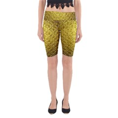 Patterns Gold Textures Yoga Cropped Leggings