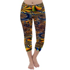 Pattern Bright Capri Winter Leggings