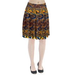 Pattern Bright Pleated Skirt