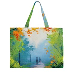 Park Nature Painting Large Tote Bag