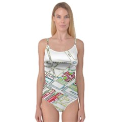 Paris Map Camisole Leotard