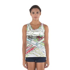 Paris Map Women s Sport Tank Top