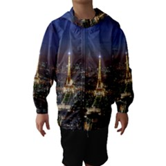 Paris At Night Hooded Wind Breaker (Kids)