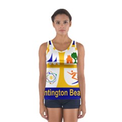 Flag Of Huntington Beach, California Women s Sport Tank Top