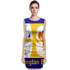 Flag Of Huntington Beach, California Classic Sleeveless Midi Dress