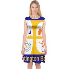 Flag of Huntington Beach, California Capsleeve Midi Dress