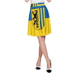 Flag Of Leipzig A Line Skirt