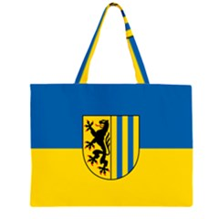Flag of Leipzig Large Tote Bag