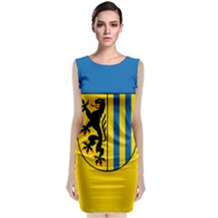 Flag Of Leipzig Classic Sleeveless Midi Dress