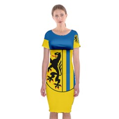 Flag Of Leipzig Classic Short Sleeve Midi Dress