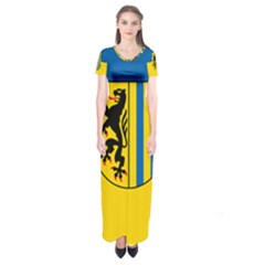 Flag Of Leipzig Short Sleeve Maxi Dress