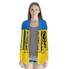 Flag Of Leipzig Drape Collar Cardigan