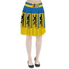 Flag Of Leipzig Pleated Skirt