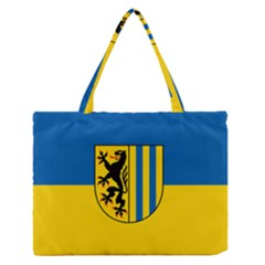Flag Of Leipzig Medium Zipper Tote Bag