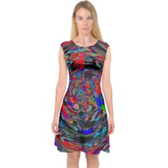 Tornado  Capsleeve Midi Dress