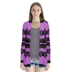 Flower Of Life Drape Collar Cardigan
