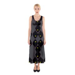 Holistic Wine Sleeveless Maxi Dress