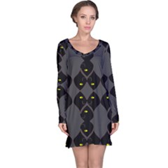 Holistic Wine Long Sleeve Nightdress