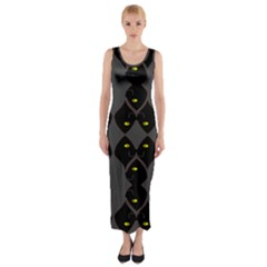 Holistic Wine Fitted Maxi Dress