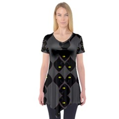 Holistic Wine Short Sleeve Tunic