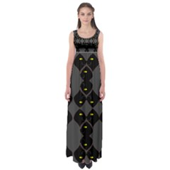 Holistic Wine Empire Waist Maxi Dress