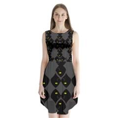 Holistic Wine Sleeveless Chiffon Dress