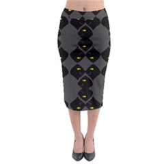 Holistic Wine Midi Pencil Skirt