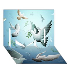 Animated Nature Wallpaper Animated Bird I Love You 3D Greeting Card (7x5)