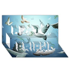 Animated Nature Wallpaper Animated Bird Best Friends 3d Greeting Card (8x4)