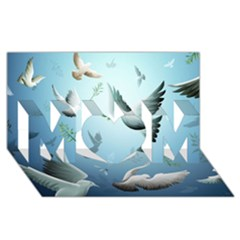 Animated Nature Wallpaper Animated Bird Mom 3d Greeting Card (8x4)