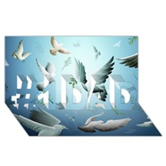 Animated Nature Wallpaper Animated Bird #1 DAD 3D Greeting Card (8x4)