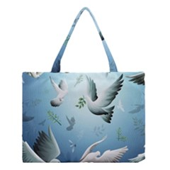 Animated Nature Wallpaper Animated Bird Medium Tote Bag