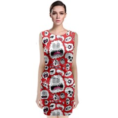 Another Monster Pattern Classic Sleeveless Midi Dress