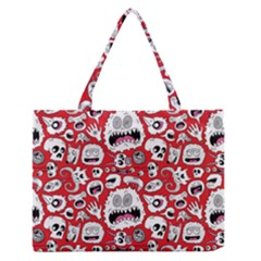 Another Monster Pattern Medium Zipper Tote Bag