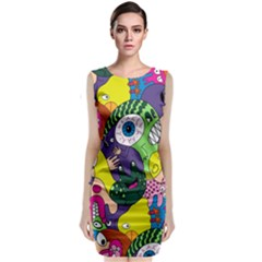 Another Weird Pattern Classic Sleeveless Midi Dress