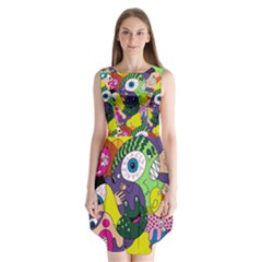 Another Weird Pattern Sleeveless Chiffon Dress