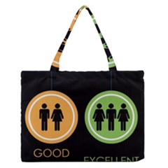 Bad Good Excellen Medium Zipper Tote Bag