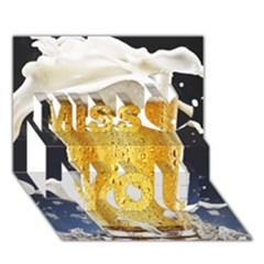Beer 1 Miss You 3d Greeting Card (7x5)