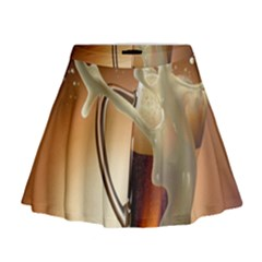 Beer Wallpaper Mini Flare Skirt