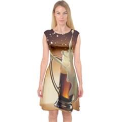 Beer Wallpaper Capsleeve Midi Dress