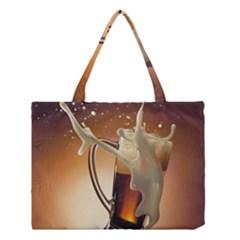 Beer Wallpaper Medium Tote Bag