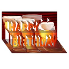 Beer Wallpaper Wide Happy Birthday 3d Greeting Card (8x4)