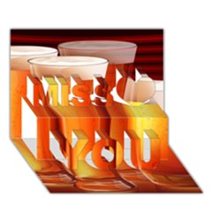 Beer Wallpaper Wide Miss You 3d Greeting Card (7x5)
