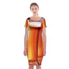 Beer Wallpaper Wide Classic Short Sleeve Midi Dress