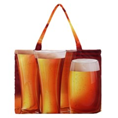 Beer Wallpaper Wide Medium Zipper Tote Bag