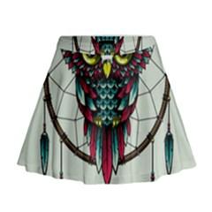 Bird Mini Flare Skirt