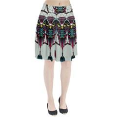 Bird Pleated Skirt