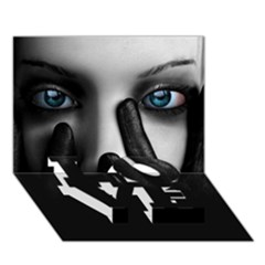 Black And White Love Bottom 3d Greeting Card (7x5)