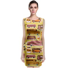 Bus Cartoons Logo Classic Sleeveless Midi Dress