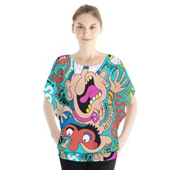 Cartoons Funny Face Patten Blouse